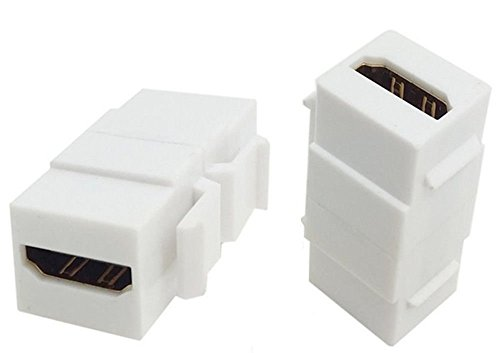 Weiß HDMI 1.4Snap F zu F Keystone Jack Koppler Adapter für Wall Plate Jack Wall Plate