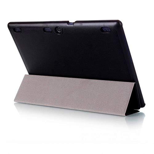 Hülle für Lenovo Tab 2 A10-30 A10-70F / Tab 10 TB-X103F 10.1 Zoll Smart Cover mit Auto Sleep/Wake + Touchpen Schwarz