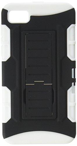 MyBat Asmyna Schutzhülle für BlackBerry Z10, gummiert, Black/White Car White Blackberry Faceplates
