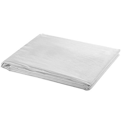 vidaXL Fotostudio Hintergrund 100% Baumwolle Weiß 6x3 m Foto Hintergrundstoff