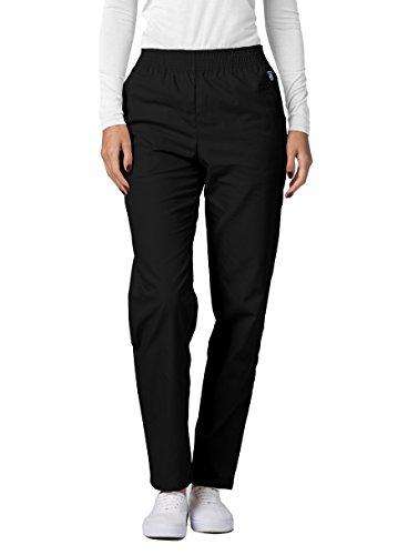 Adar Universal Classic Comfort Natural-Rise Tapered Leg Pants - 502 - Black - - Kosmetikerin Kostüm
