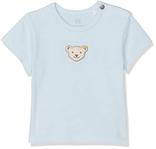 Niedliche Bio-herren-t-shirt (Steiff Baby-Jungen T-Shirt, Blau (Winter Sky 3023), 80)