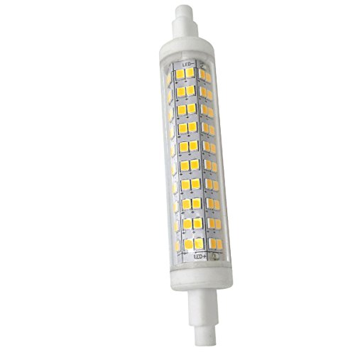 Phigoning 1 Stück Sockel R7s 118mm LED Leuchtmittel 10W LED Lampe 120 SMD 2835 R7S LED Birne AC85-265V Warmweiß