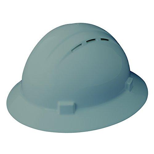 Erb Safety Products 19637americana Full Brim Vent Mega Ratchet hard Hat, size: 61/2–8, grigio