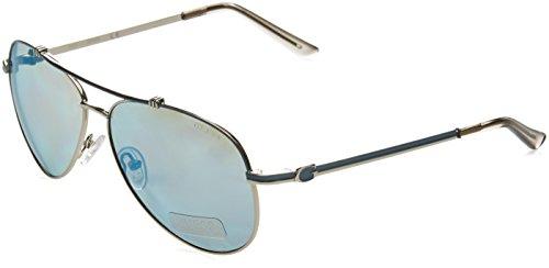 Guess Damen GF6016_10X Sonnenbrille, Blau (Blu/argento), 60
