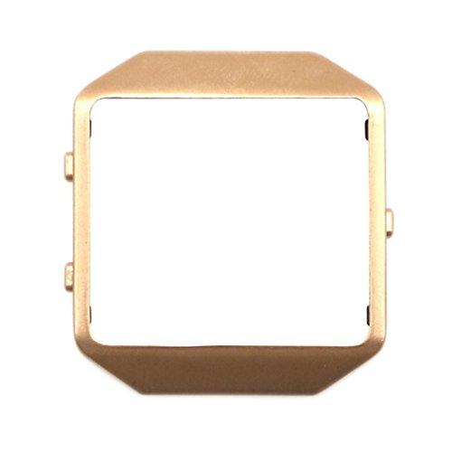 squarex Luxus Edelstahl Armbanduhr ersetzen Metall Rahmen Watch Holder für Fitbit Blaze Smart Watch, damen, gold