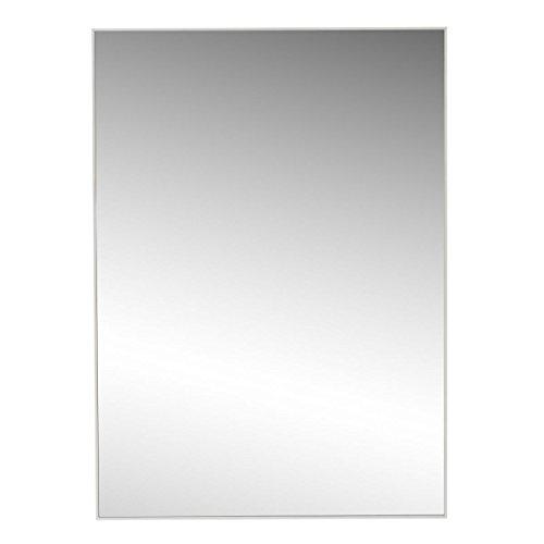 Espejo de Pared Moderno Blanco de poliestireno para salón de 50 x 70 cm Basic - LOLAhome