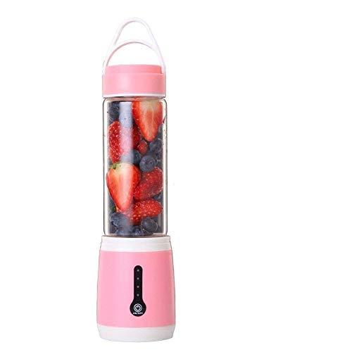 Mini Portable Usb Saft Mixer Mit 6 Klingen, Multifunktions Fruchtsaft Maschine Smoothie Maker Reise Usb Saft Tasse,Pink