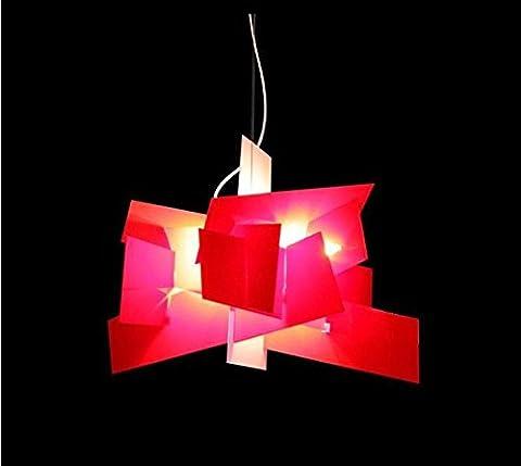 WGE Kreative Acryl Kronleuchter Stilvolle Wohnzimmer Licht Restaurant Kunst Studie Schlafzimmer Licht , Red Trumpet