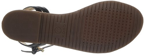 Geox D JOLANDA O, Low-Top Sneaker donna Nero (Schwarz (BLACKC9999))