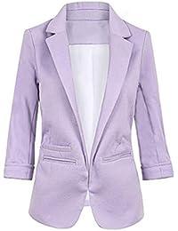 JackenLOVE Primavera y Otoño Mujeres Chaquetas de Traje Moda Slim Outerwear  Cazadora Coat Jacket Tops de Oficina Negocios Business… d05eb820e48f