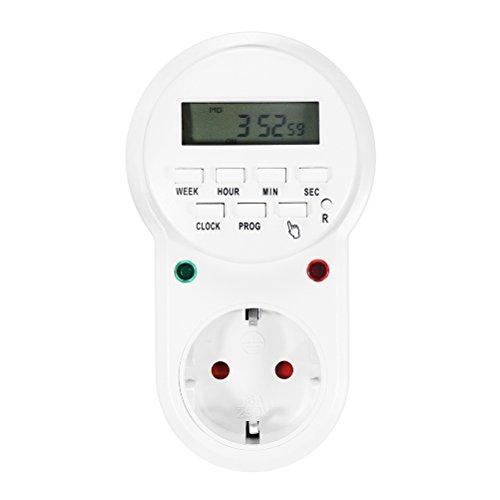 Wirtschaft-lampe (bestomz Steckdose Zeitschaltuhr Steckdose Schalter Digitale, Wirtschaft Energie für Lampe Haus, Aquarium, Gerät elektrische)