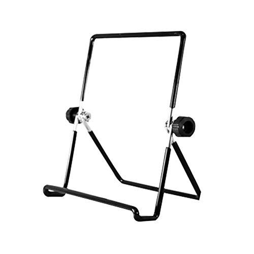 TODAYTOP Tablet-Halterung Computer Fotorahmen Universal Rahmen Handy Halterung Desktop Kühlkörper Ständer Metall klappbar Ständer für iPad, Metall, Schwarz, Large - Klappbare Metall-ständer
