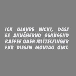 TEXLAB - Schlimmer Montag - Herren T-Shirt Grau