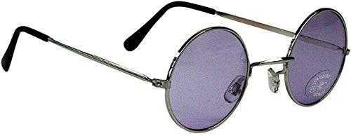 Gafas redondas, diseño tipo Lennon morado