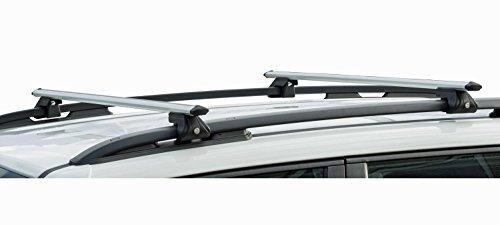 Barres de toit en aluminium VDP CRV135 pour Renault Koleos I 08-17 90 kg verrouillables.
