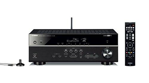 Yamaha RX-V481 - Receptor AV con AirPlay, radio por Internet, Wi-Fi y Bluetooth, color negro