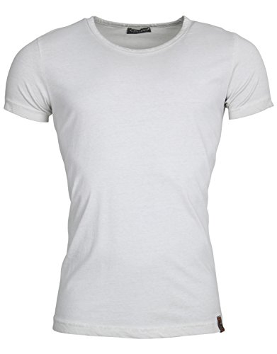Tazzio Herren T-Shirt Poloshirt Polo Hemd Slim Fit Japan Style Kurzarm Grau Bexhill