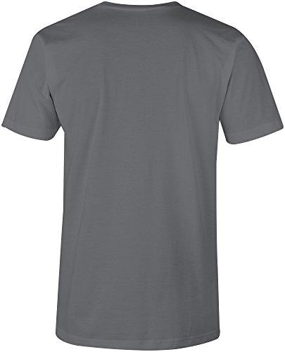 Established 1977 aged to perfection ★ V-Neck T-Shirt Männer-Herren ★ hochwertig bedruckt mit lustigem Spruch ★ Die perfekte Geschenk-Idee (06) dunkelgrau
