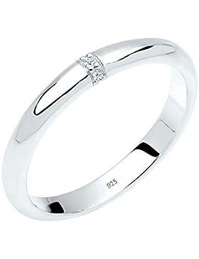 Diamore Damen Ring 925 Sterling Silber 0,02 ct