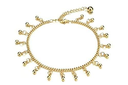 AnazoZ Schmuck Aoline Fußkettes Für Damen Bell Tassel Gold