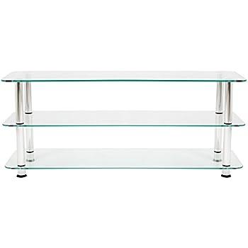 mountright ums2 klar glas tv stand f r led lcd plasma. Black Bedroom Furniture Sets. Home Design Ideas