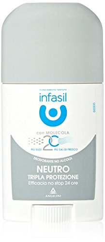 Infasil - Deodorante No Alcool, Neutro Tripla Protezione -  40 ml