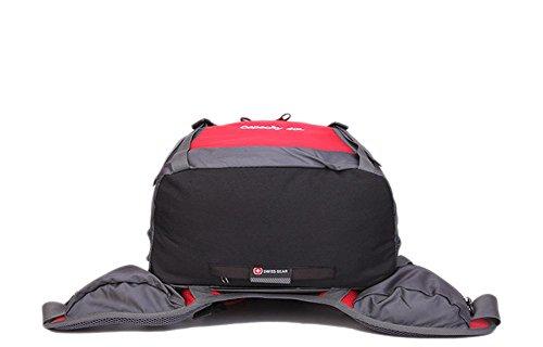 40L impermeabile esterna di grande capienza maschile alpinismo pacchetto femminile borsa da viaggio a tracolla sportiva zaino Studente , blue army green