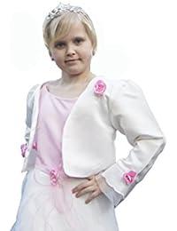2 teiliges Kleid Blumenmädchenkleid Babykleid Taufkleid Kommunionskleid Festkleid +Reifrock+ Bolero