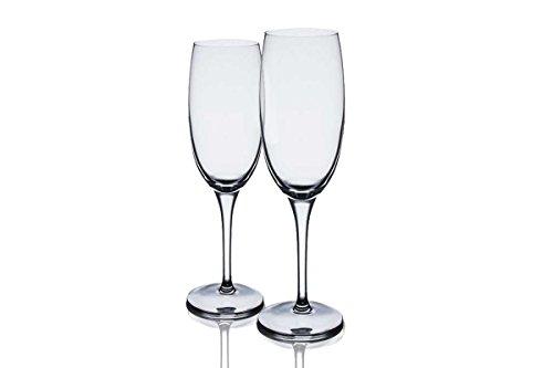 Alessi Mami – Crystalline Verrerie – Flûtes à Champagne – XL – Lot de 2 – Contenance : 25 cl/24,8 cl