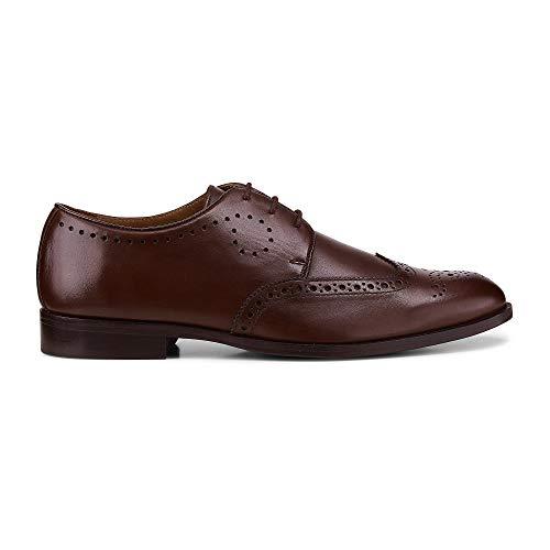 Belmondo Herren Herren Business-Schnürschuh aus Leder, Derby-Schnürer in Braun mit eleganter Laufsohle Braun Leder 42