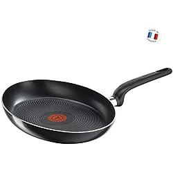 Tefal B3671202 Poêle, Aluminium, Noir, 36 cm