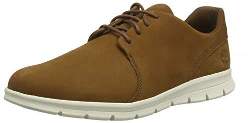 Timberland Graydon Leather Oxford, Zapatillas Bajas para Hombre, Marrón Dark Brown Nubuck, 40 EU