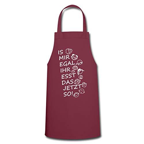 Spreadshirt Kochen Egal Ihr Esst Das So Witziger Spruch Kochschürze, Bordeaux