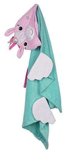Zoocchini-Toalla con capucha 100% algodón toalla con capucha, Allie el unicornio