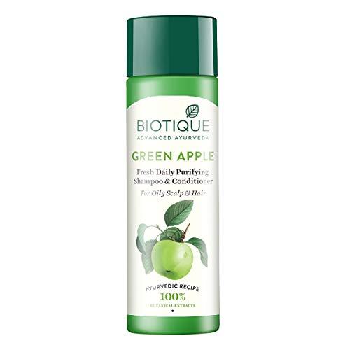 Biotique Green Apple frische Tageszeitung Purifying Shampoo und Conditioner für fettige Haar und Kopfhaut 120ml -