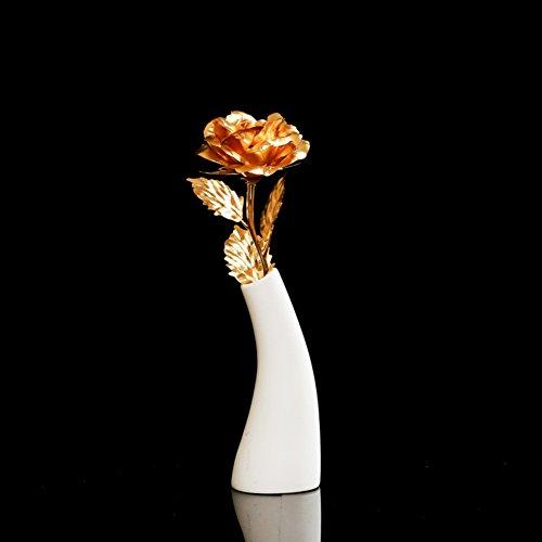 decorazioni per la casa/[decorazione]/Vaso in ceramica di simulazione dell'oro delle Rose/insieme/ contenitore di regalo regalo regalo-D