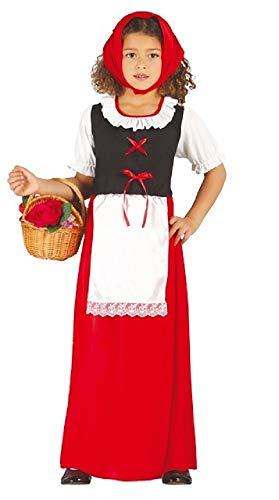 Fancy Me Mädchen Langer roter Inn Aufpasser mittelalterlich shäfer Hirtin Weihnachten Weihnachten Krippenspiel Rotkäppchen Märchen Kostüm Kleid Outfit 3-12 Jahre - Rot, 3-4 ()