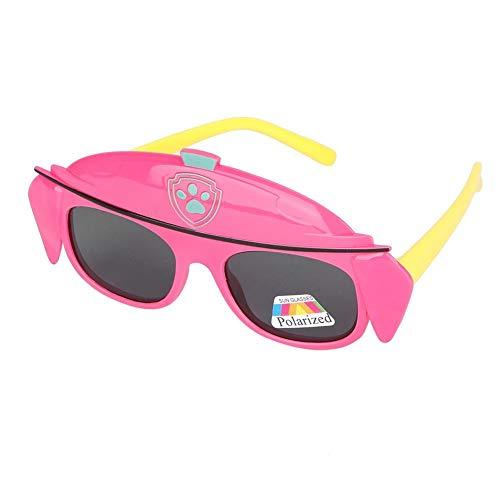 Neugeborenes Baby polarisierte Sonnenbrille-weiche Silikon-Brillen für Kinderweinlese-Karikatur-Brillen für Baby-Jungen-Mädchen(PeachblowC3)
