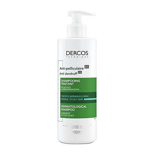 Vichy Dercos Anti-Schuppen Advanced Action Shampoo, normales bis fettiges Haar, 390 ml