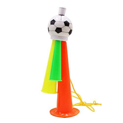 TOYMYTOY Fußballspiel Horn | Stadion Fans Cheer Plastic Horn | Bugle Kindertag Geschenk Größe M (zufällige Farbe)