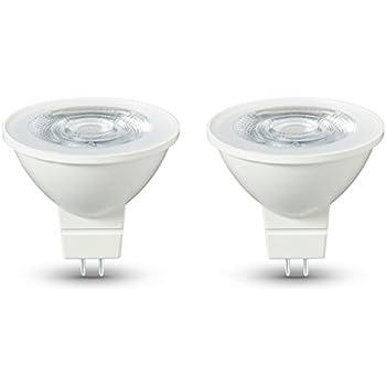 AmazonBasics - Bombilla LED GU5.3, 4,5 W equivalente a 35 W, 345 lúmenes, no regulable - 2 unidades