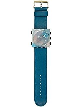 S.T.A.M.P.S. Stamps Uhr KOMPLETT - Zifferblatt Space Dream mit Lederarmband blue