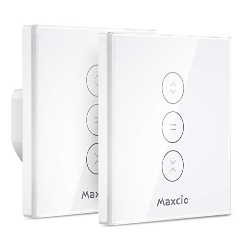 Interruptor Persiana WiFi, Maxcio Interruptor Inteligente Compatible con Alexa y Google Home,...