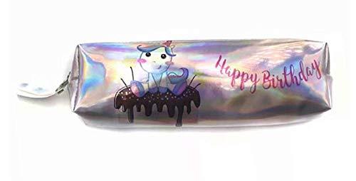 Inception Pro Infinite Modell 3 - Box Happy Birthday Stifthalter Stifte Schule Büro Kosmetiktasche Glänzend Irisierend Perlglanz Bunt Einhorn Kinder Frau Geschenkidee Kawaii