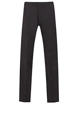 Dobell Hommes Classique Coupe Droite Laine Pantalon De Costume Queue De Pie Noir 40R