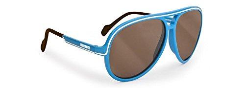 Occhiali Bambino da sole polarizzati protezione UV400 by Bertoni Italy cod.P KID D (azzurro e tabacco)