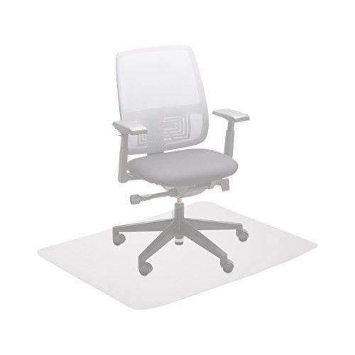 Relaxdays Bürostuhlunterlage 90x120 cm, Kratzfeste PE Bodenschutzmatte, schalldämmende...