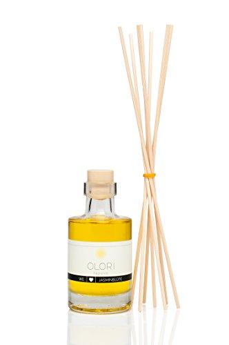 OLORI Reed Raumduft - Jasminblüte - 100 ml - verschiedene Sorten - natürlich, langanhaltend, erfrischend, weich, blumig