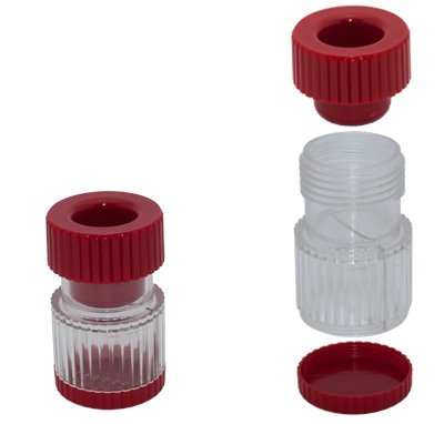 Tablettenmörser rot oder blau nach Vorrat